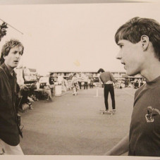 With Rodney at a pro contest circa 80s